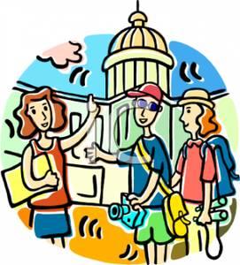 City Tour Guide Clipart 1