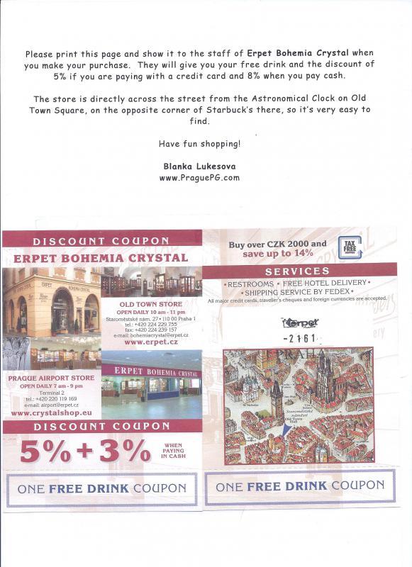Prague discount coupons