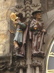 Vanity and Miser on the Astronomical Clock in Prague