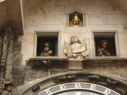 The apostoles on the Astronomical Clock in Prague